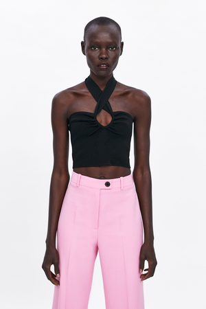 Zara Women Strapless Tops - Bandeau top with bow