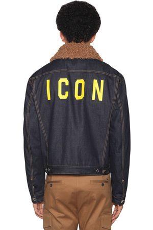 DSQUARED2 Icon Print Patchwork Cotton Denim Jacket