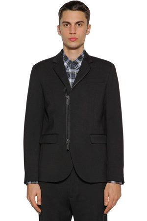 Dsquared2 Men Blazers - Zip-up Wool Cady Jacket