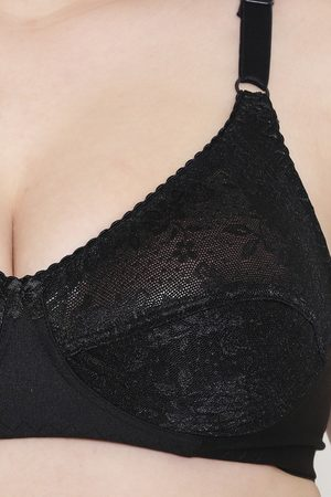 Leading Lady LeadingLady Double Layered Wirefree Lace Super Support Bra