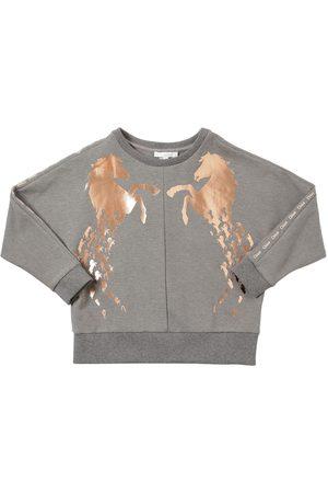 Chloé Horse Print Cotton Blend Sweatshirt