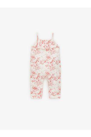 Zara Printed toile de jouy jumpsuit