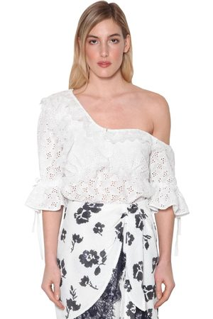 Self-Portrait Women Shirts - Leaf Techno Lace Blouse