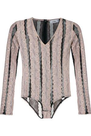 AMIR SLAMA Striped bodysuit