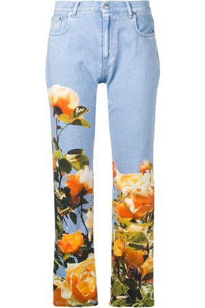 Msgm Floral straight-leg jeans