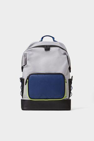 Zara Men Rucksacks - Backpack with coloured detail