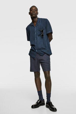 Zara Men Bermudas - Rustic bermuda shorts with drawstring detail
