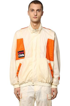 Heron Preston Ctnmb Nylon Parachute Windbreaker Jacket