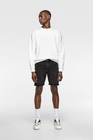 Zara Men Bermudas - Basic denim bermuda shorts