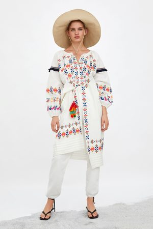 Zara Tunic with colourful embroidery