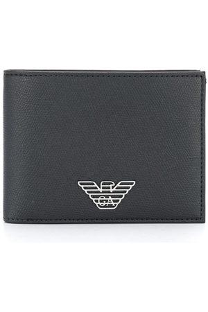 Emporio Armani Logo plaque bifold wallet