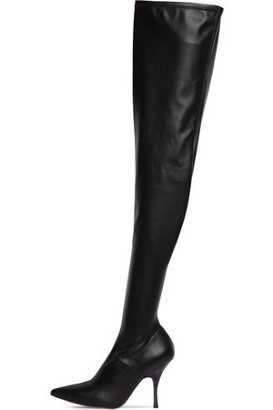 Rochas 100mm Faux Leather Over-the-knee Boots