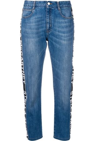 Stella McCartney Women Straight - Logo tape jeans