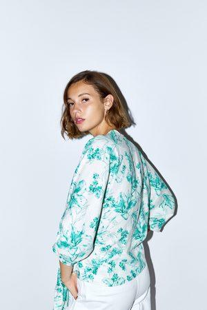 Zara Floral print rustic top