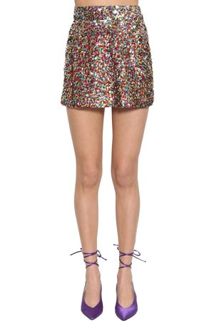 ATTICO High Waist Sequined Miniskirt