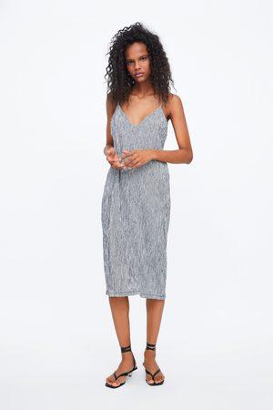 Zara Textured dress with straps