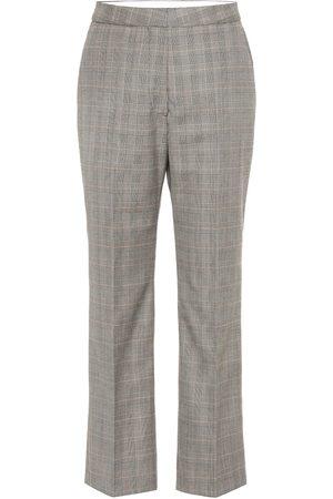 Stella McCartney High-rise checked wool pants