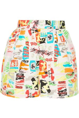 CHANEL CC printed shorts