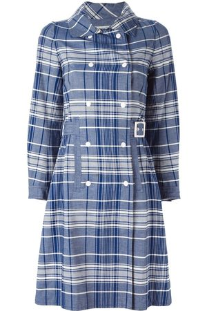 Courrèges 1970s checked trench coat