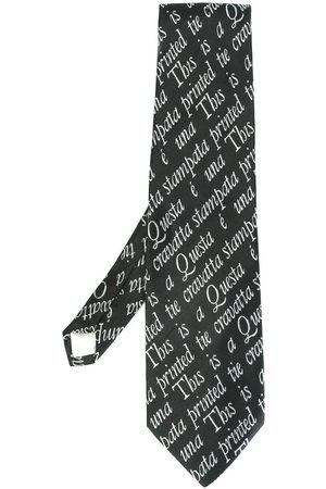 Moschino Quote intarsia knit tie