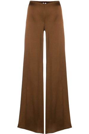 ROMEO GIGLI Glossy flared trousers