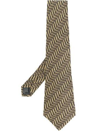 Jean Paul Gaultier 1990s geometric-print textured silk tie