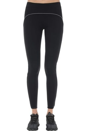 A-cold-wall* Women Stretch Trousers - Logo Printed Stretch Leggings