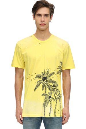 DOMREBEL Palm Skull Cotton Jersey T-shirt