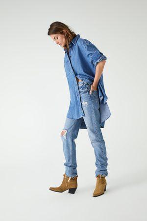 Zara Long denim shirt