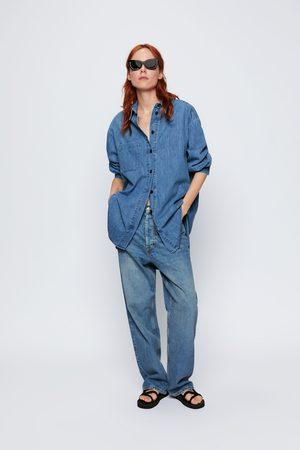 Zara Women Denim - Long denim shirt