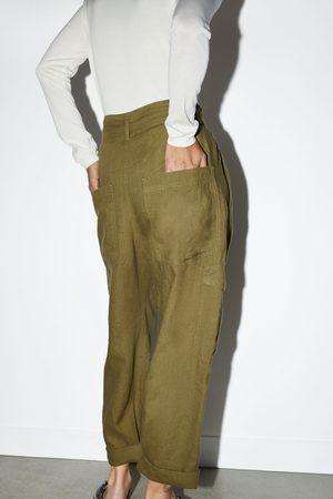 ba83326f Buy Zara Cargo Trousers for Women Online | FASHIOLA.in | Compare & buy
