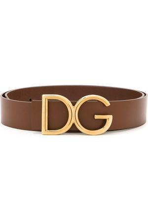 Dolce & Gabbana Men Belts - DG logo plaque belt