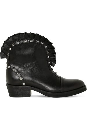 Balmain Studded Faux Leather Boots
