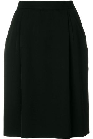 Yves Saint Laurent High rise straight skirt