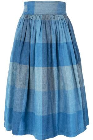 Issey Miyake Check wrap skirt