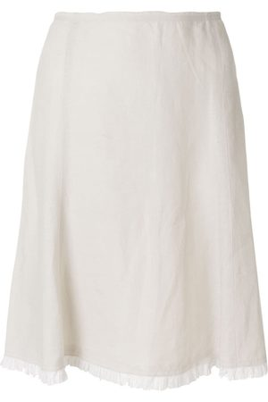 Prada Pleated hem A-line skirt