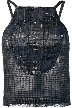 CHANEL 2006's knitted checked blouse