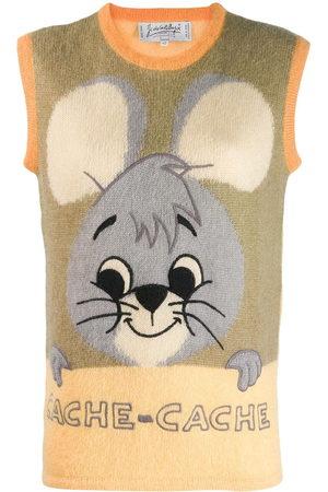 JC DE CASTELBAJAC Cartoon motif knitted vest