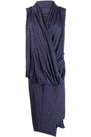 Vivienne Westwood Knitted wrap-front dress