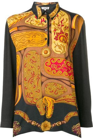 Hermès Pre-owned abstract longsleeved polo shirt