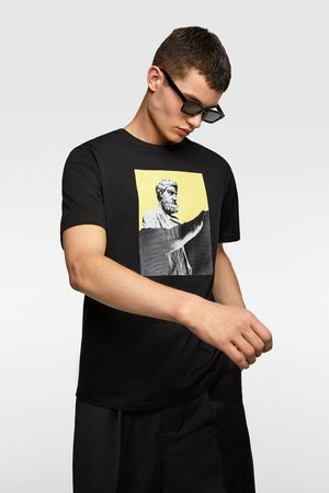 Zara T-shirt with contrast print