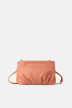 4f78918b Ruched leather crossbody bag
