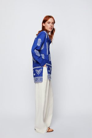 Zara Blouse with contrast embroidery