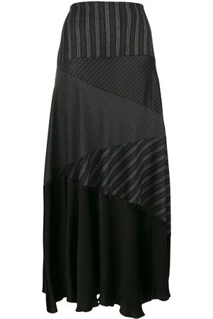 ROMEO GIGLI Stripe flared midi skirt