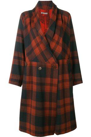 Issey Miyake Women Coats - Belted plaid coat