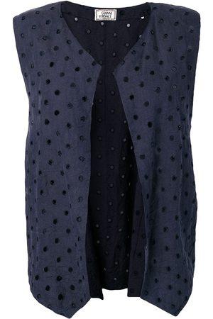 VERSACE 1990's eyelets vest