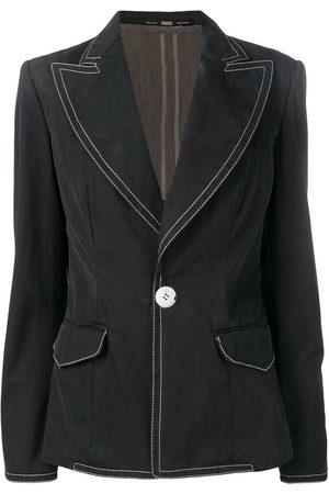 Gianfranco Ferré 1990's stitching details blazer