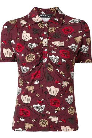 Salvatore Ferragamo 1970''s floral polo shirt