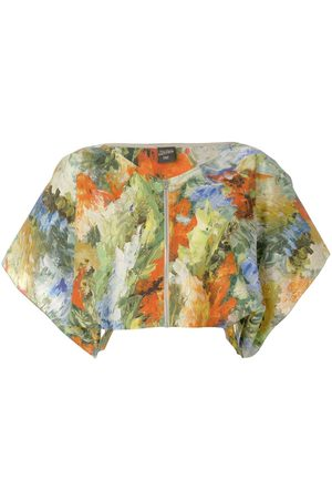 Jean Paul Gaultier Abstract print cropped blouse
