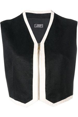 VERSACE Women Vests - 1990's cropped zipped vest
